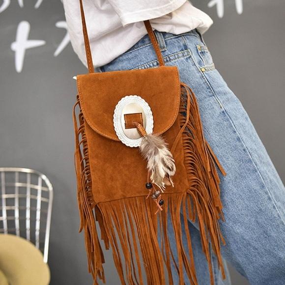 c716d256b LIST NO BRAND Bags | Western Fringe Suede Crossbody Bag | Poshmark